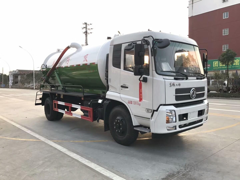 东风天锦12方吸污车
