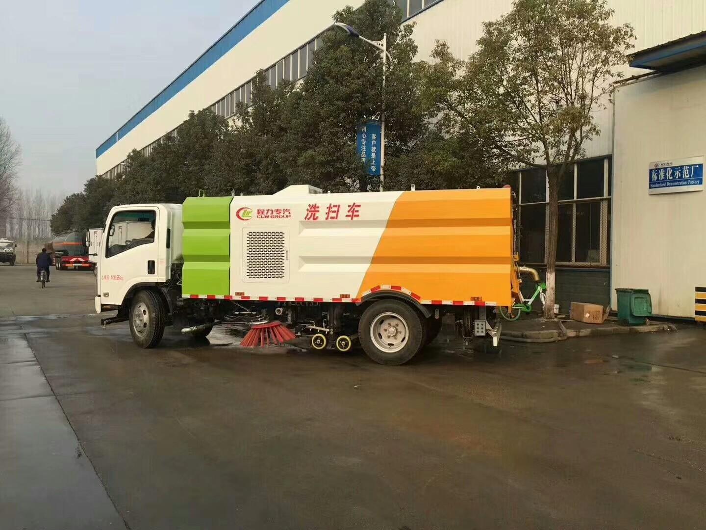 五十铃11吨扫路车图片