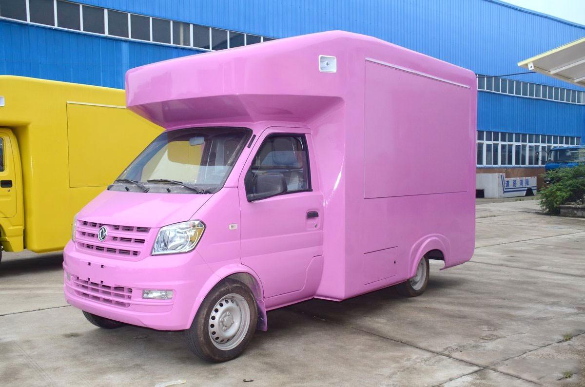 东风俊风国五流动售货车(紫色)图片