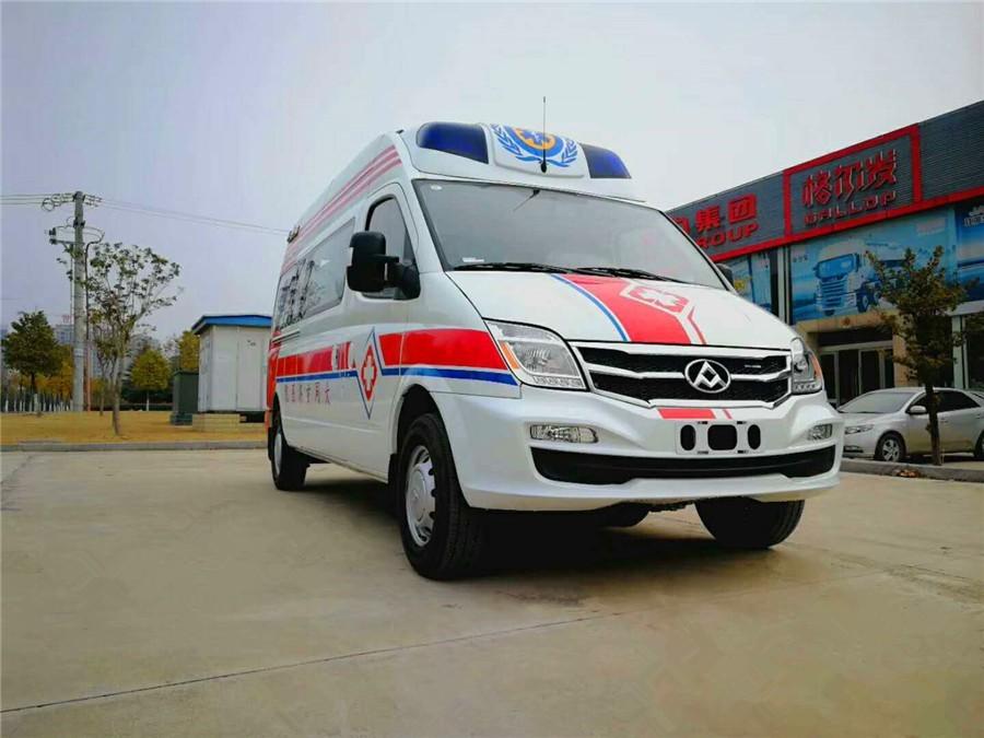 上汽大通长轴转运型救护车图片