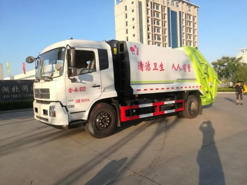 东风天锦12吨压缩式垃圾车