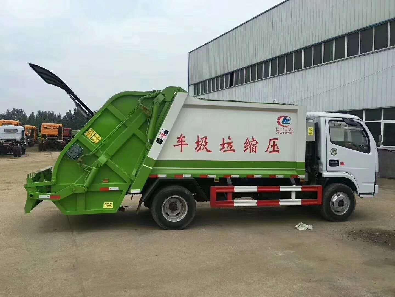 东风多利卡后装压缩式垃圾车图片