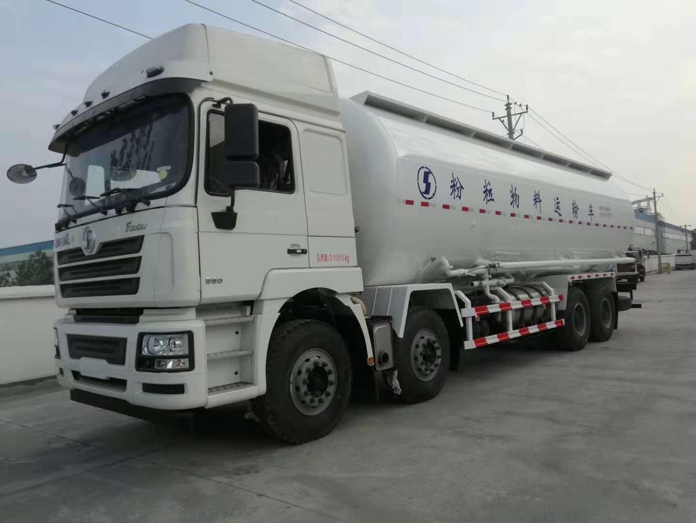 粉粒物料运输车 散装水泥运输车图片