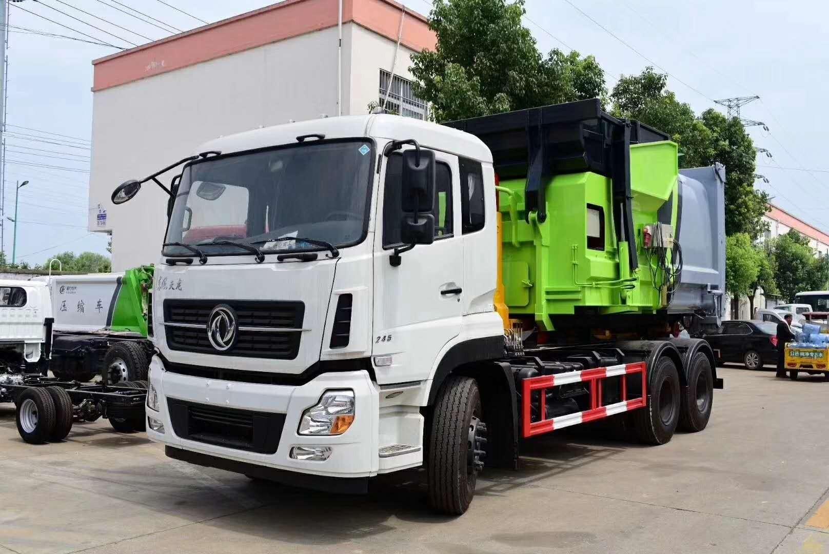 东风天锦对接式垃圾车图片