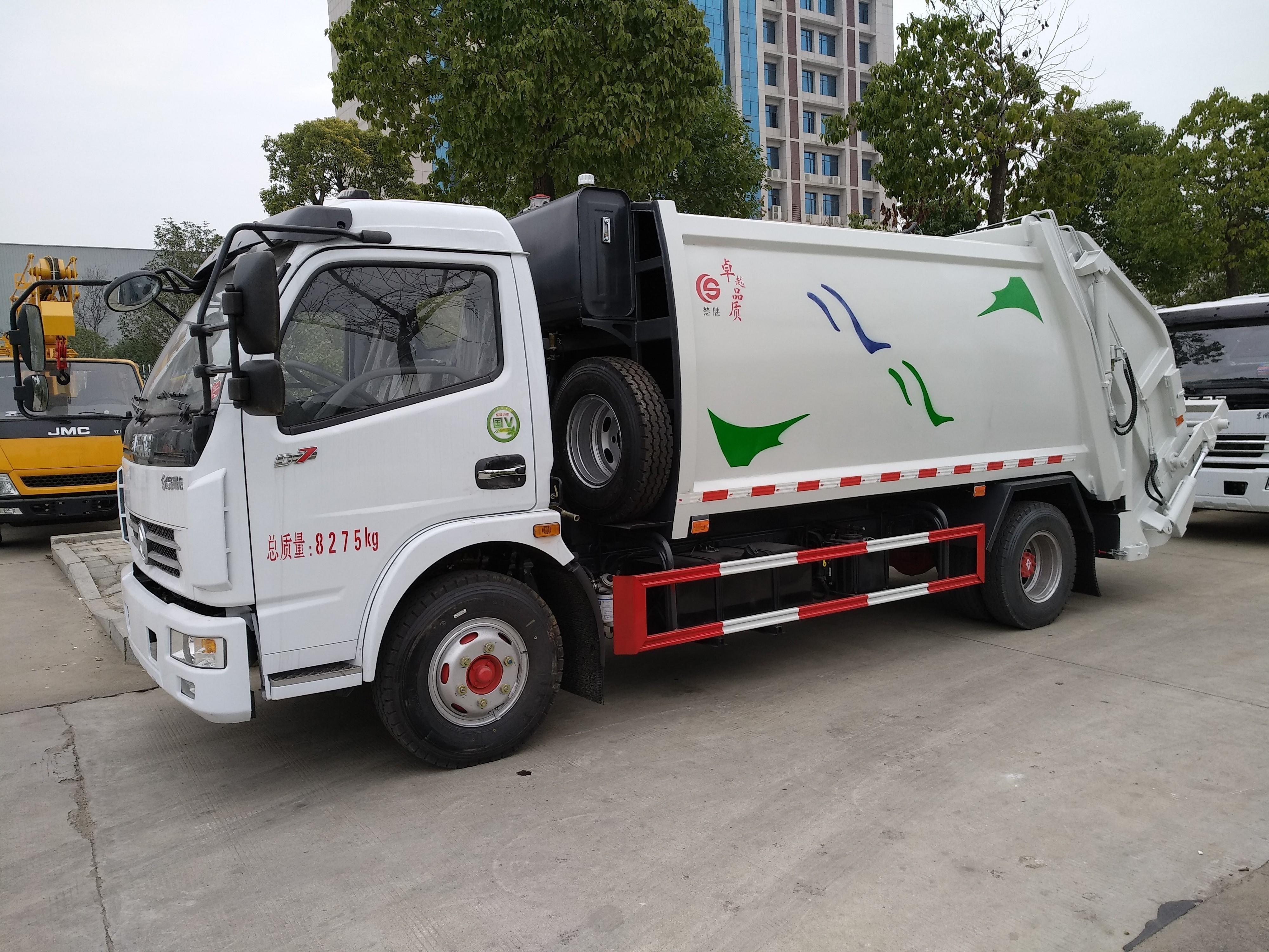 东风8方压缩垃圾车 环卫垃圾清运车 垃圾车厂家图片