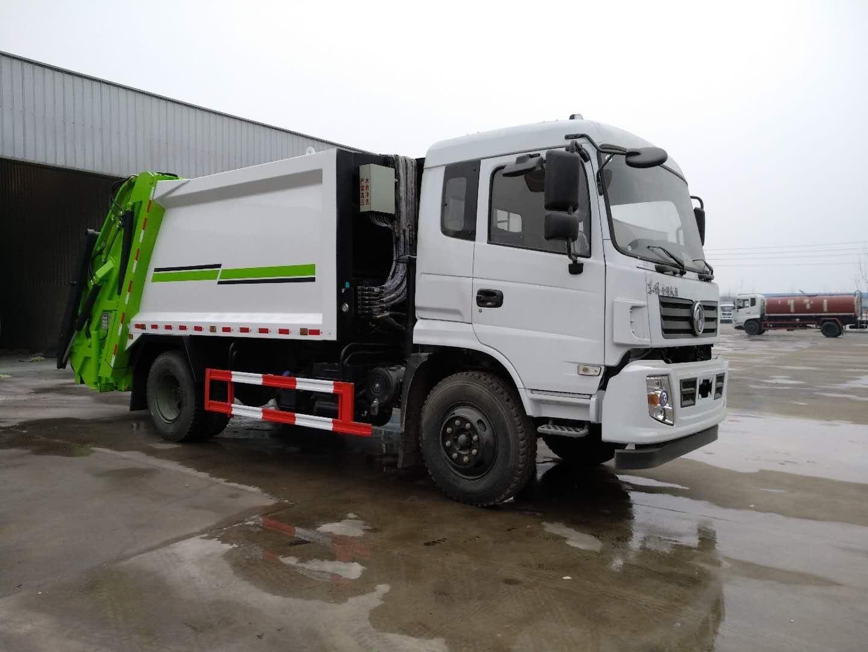 东风专底10吨压缩式垃圾车