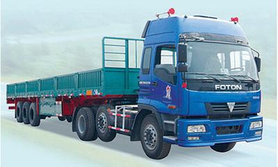 长2米4,车货总重大概有670斤全挂车图片
