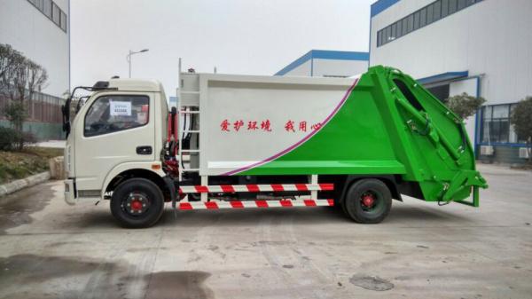 东风多利卡压缩式 垃圾车 (1)
