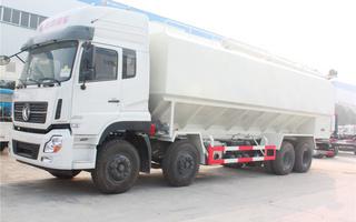 东风天龙散装饲料运输车图片