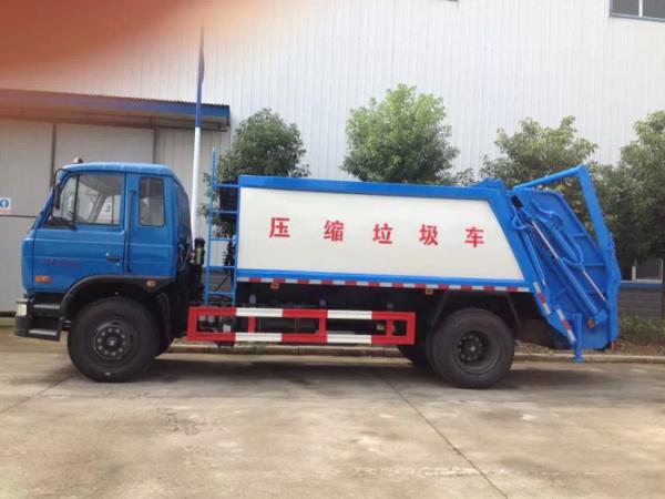 东风153压缩摆臂式垃圾车 (1)