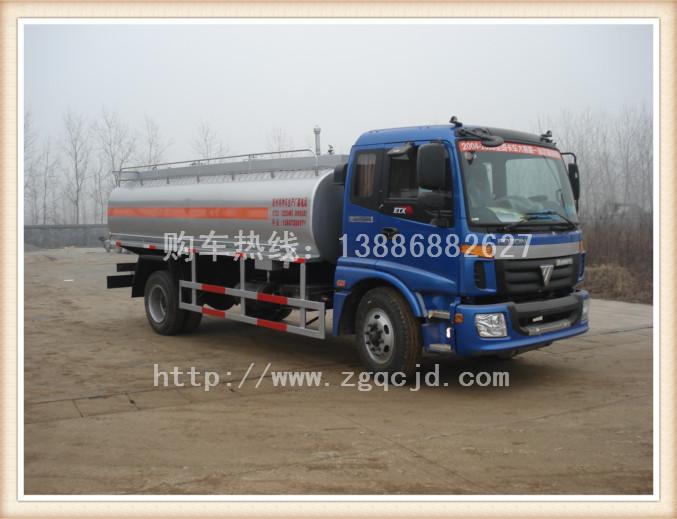 欧曼单桥油罐车(15-18立方)