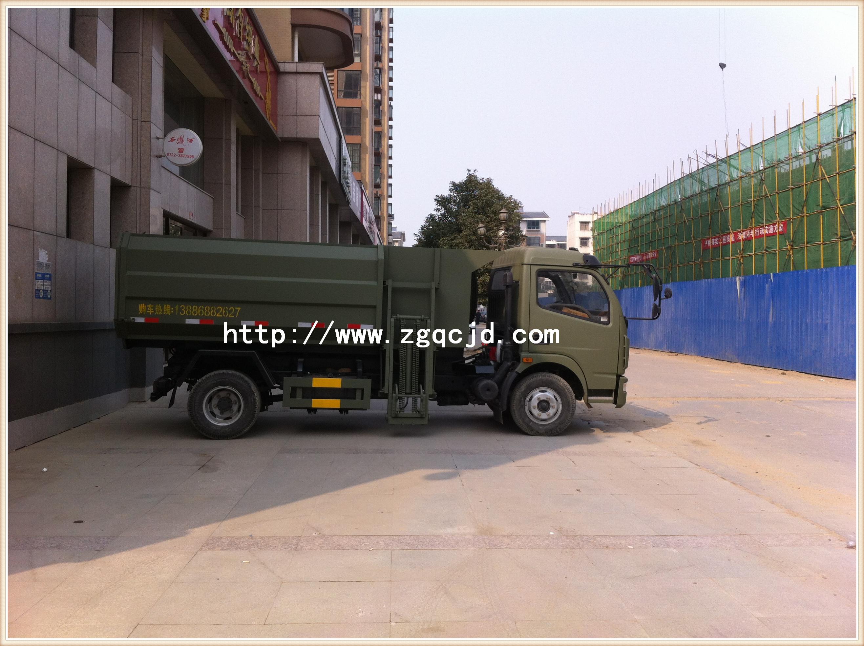 东风挂桶垃圾车(5-8立方)