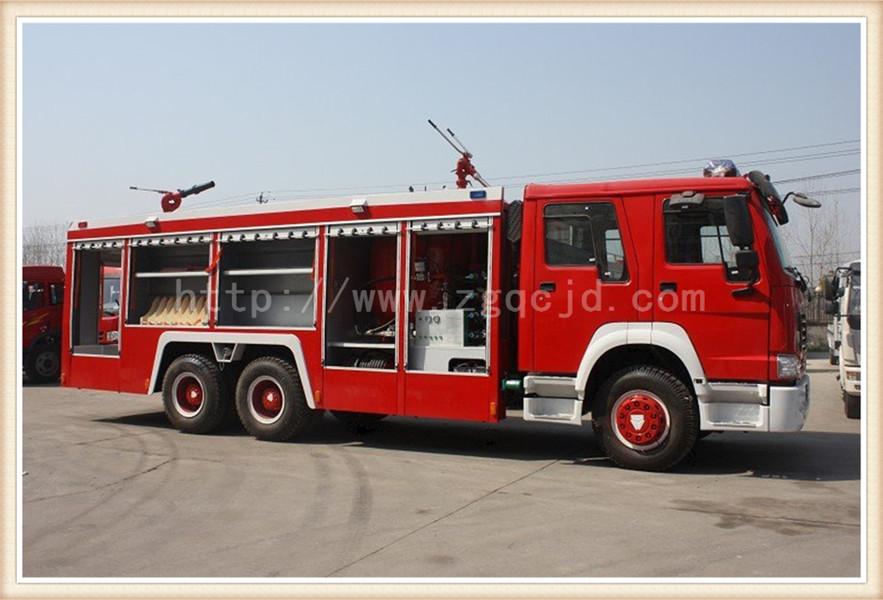 斯太尔双桥水罐消防车