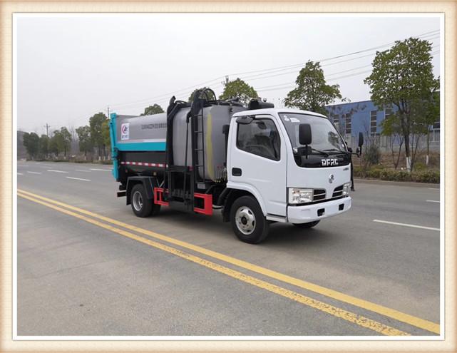 东风7立方自装卸式垃圾车
