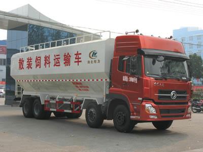 东风天龙散装饲料运输车