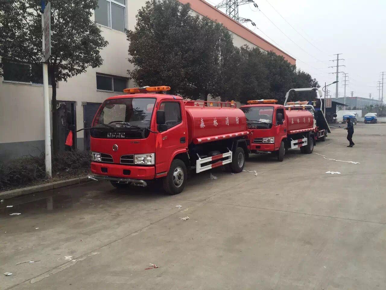 东风小多利卡消防洒水车 5方多功能绿化喷洒车