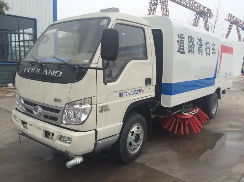 福田2.6米轴距国五3方扫路车(水仓0.8方/尘仓1.7方)