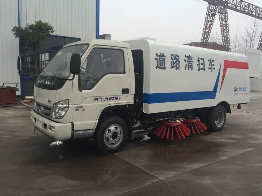 福田2.6米轴距国五3方扫路车(水仓0.8方/尘仓1.7方)图片