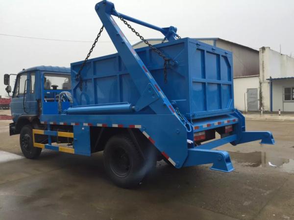 东风145蓝摆臂式垃圾车3