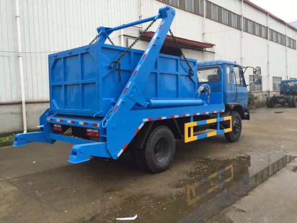 东风145蓝摆臂式垃圾车4