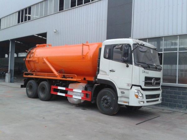 东风橙红天龙后双桥吸污车 (1)