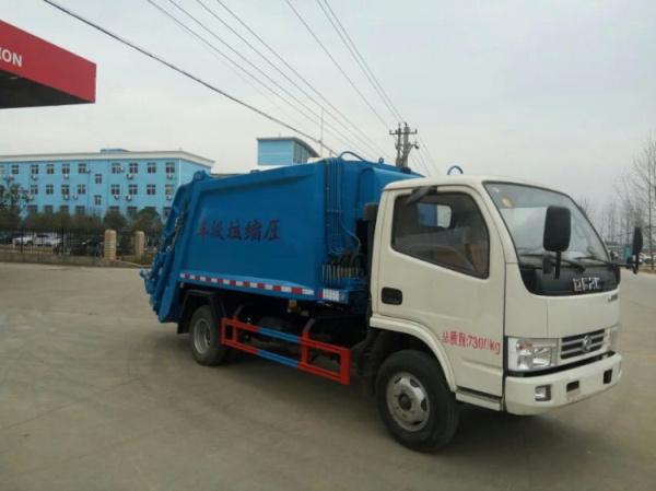 藍白東風小多利卡壓縮式垃圾車 (2)