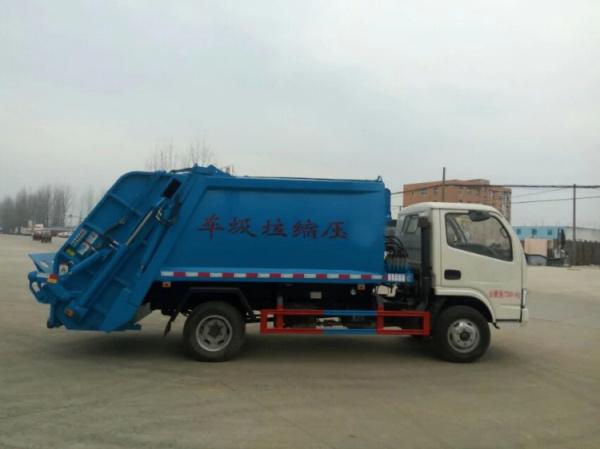 藍白東風小多利卡壓縮式垃圾車 (3)