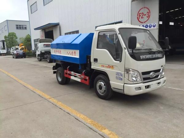 福田时代祥龙车厢可卸式垃圾车 3方拉臂式垃圾车图片