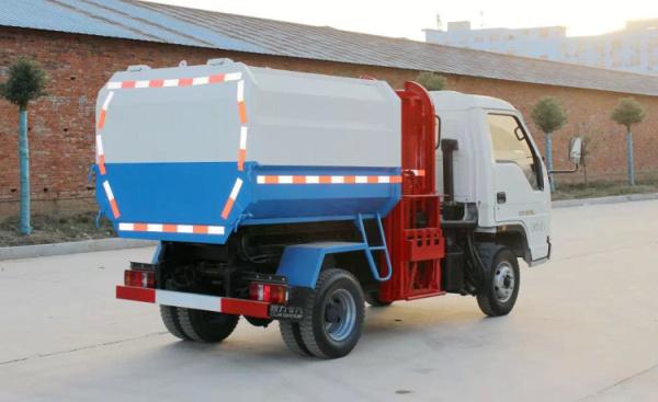 福田时代中驰挂桶式垃圾车 3方自装卸式垃圾车图片