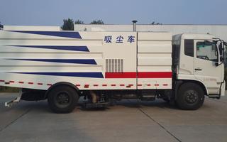 东风天锦11方干式吸尘车