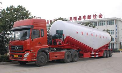 解放J6粉粒物料运输车视频