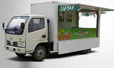 多功能售货车带LED广告车图片