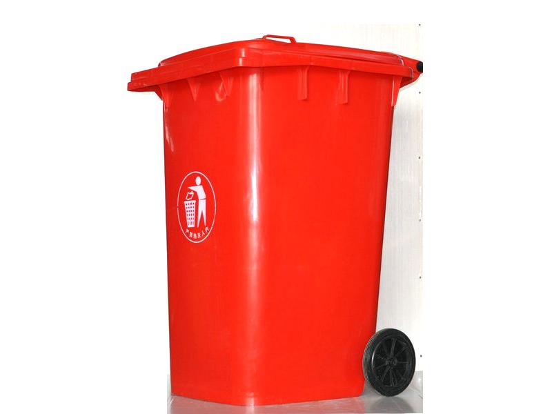 120l红色垃圾桶