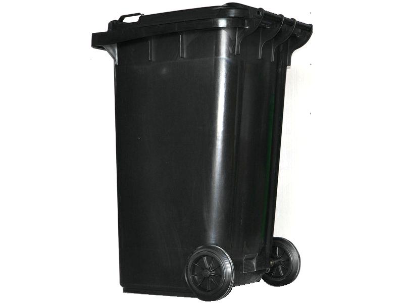 240l黑色垃圾桶_环卫车配件