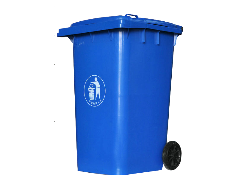 120l蓝色垃圾桶_环卫车配件