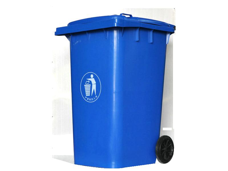 120L蓝色垃圾桶图片