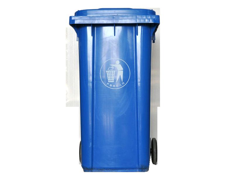 240L蓝色垃圾桶图片