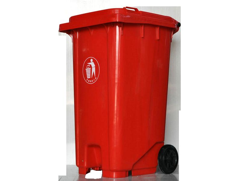 240L红色垃圾桶图片