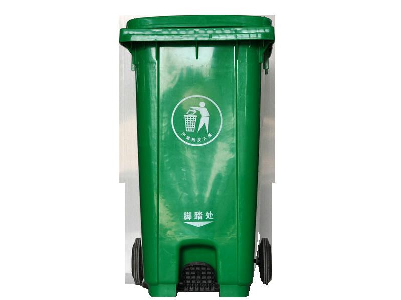 240L绿色垃圾桶图片