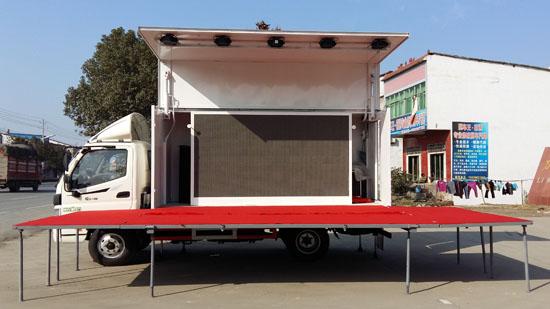 福田欧马可4.2米高端舞台车图片