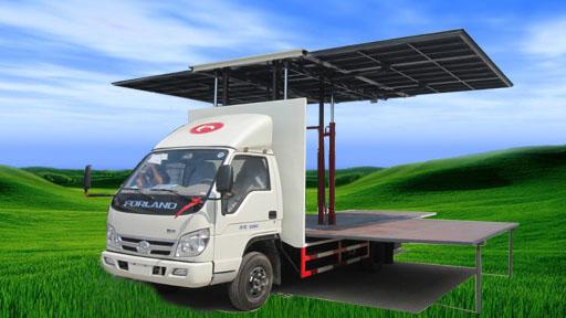 福田厢长4.2米小型舞台车图片