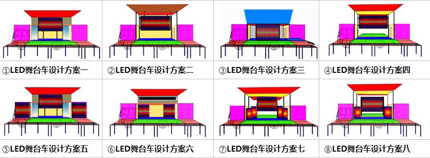led舞台车设计