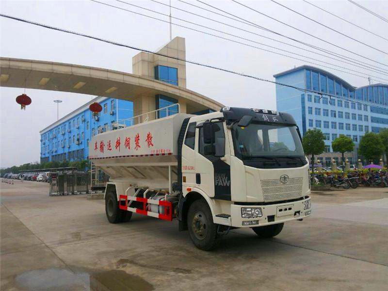 解放J6(22方/11吨)散装饲料运输车图片