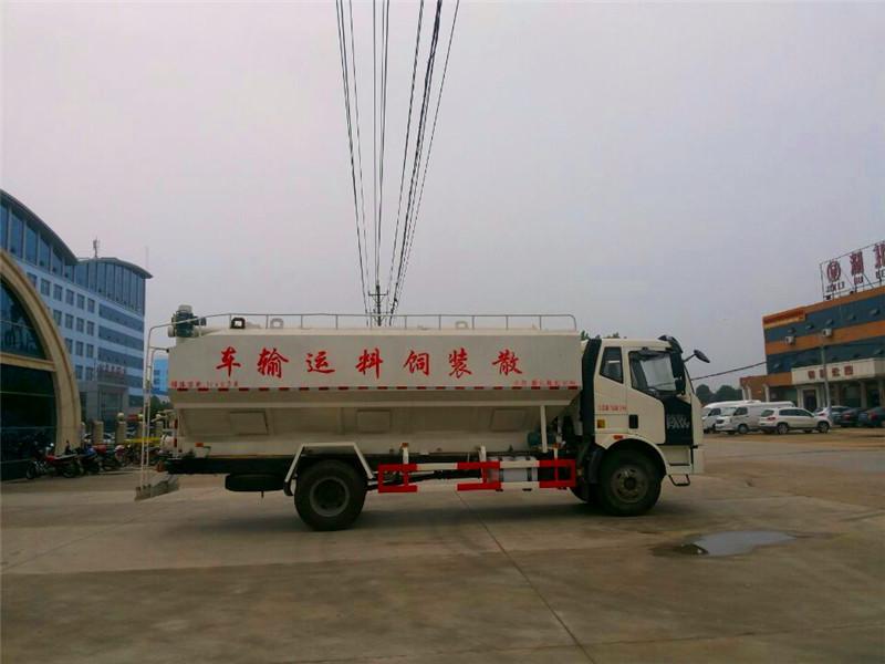 解放J6散装饲料运输车图片
