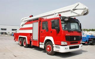 豪沃25米举高喷射消防车图片
