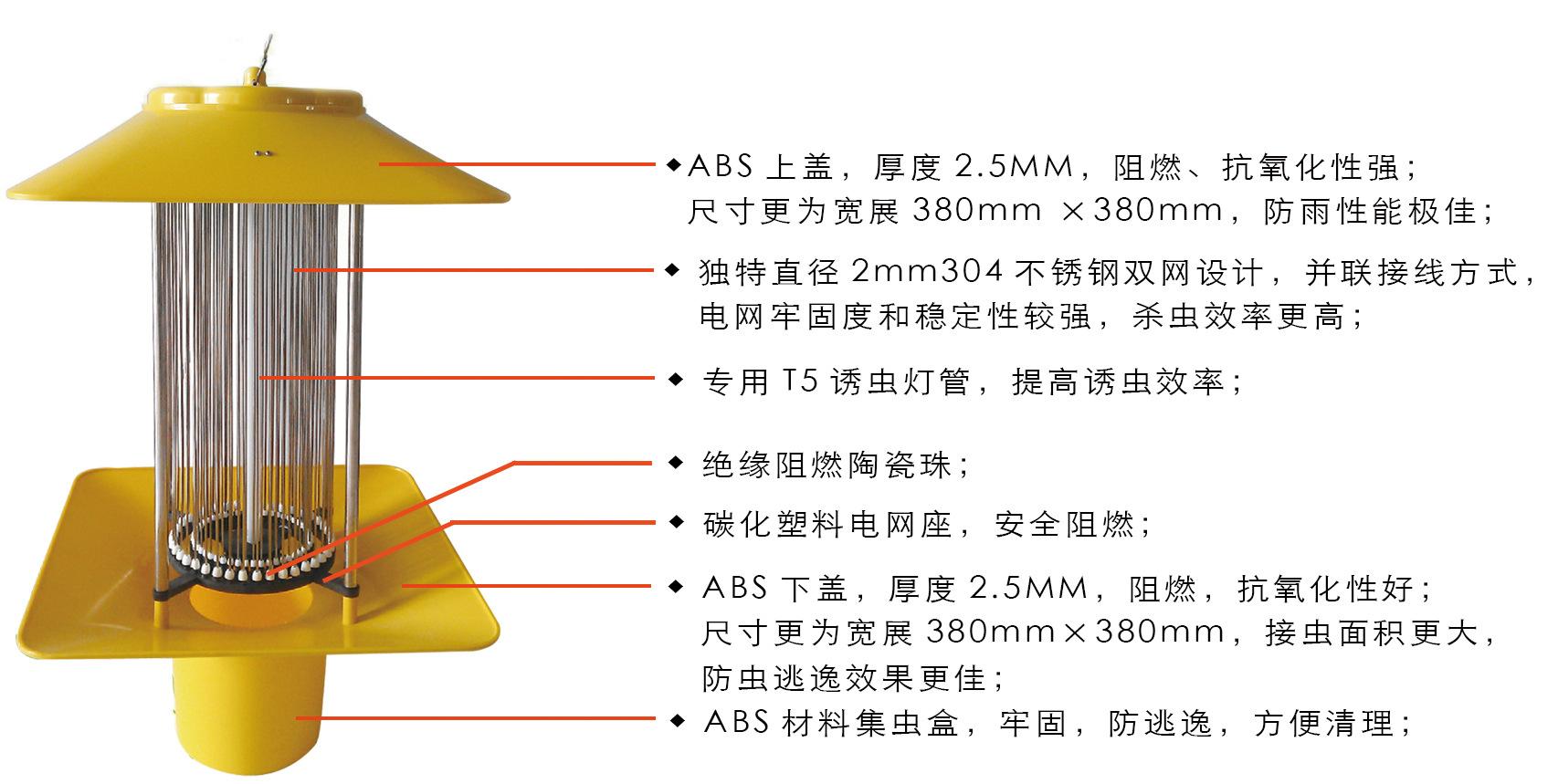 灯体智能控制系统含有光控,雨(湿)控,时控等功能,电路保护系统含短路