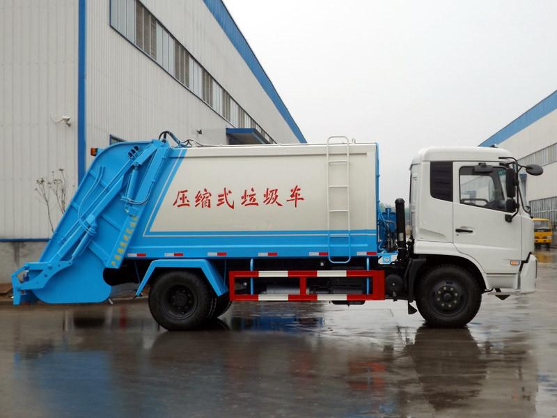 东风天锦压缩式垃圾车 8-12方图片