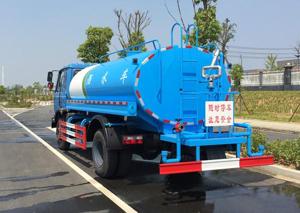 东风145洒水车图片(蓝色高清侧后)
