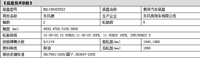 东风153洒水车新款底盘参数