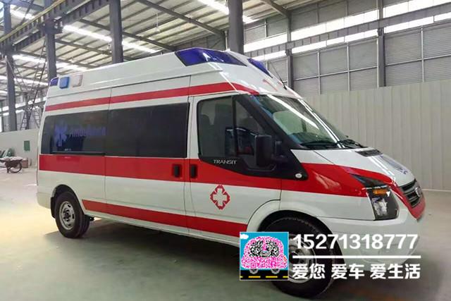 福特全顺v348长轴高顶救护车
